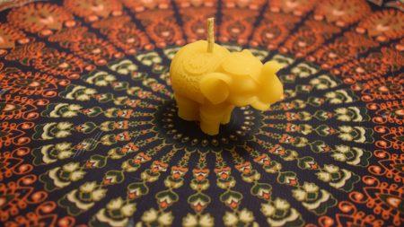 """Bičių vaško žvakė """"Dramblys"""""""
